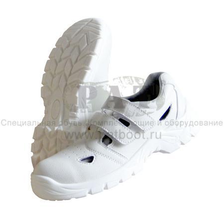 Белые сандалии - белая спецобувь для пищевых, медицинских, химических и электронных производств